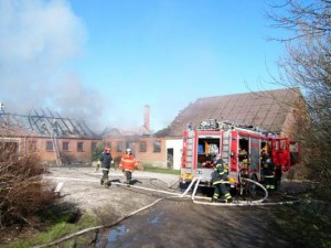 Oprydning efter brandskade
